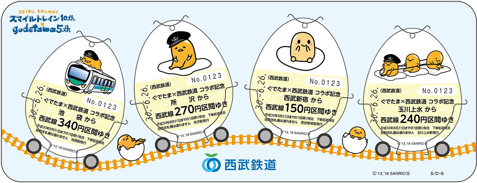 たまご型の乗車券のイメージ画像